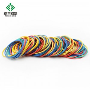 Factory direct sale color solid color high elastic office strapping special rubber band