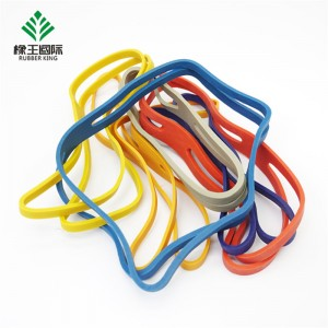 Manufacturers custom color solid color high elasticity, safe and environmentally friendly natural rubber bands for travel