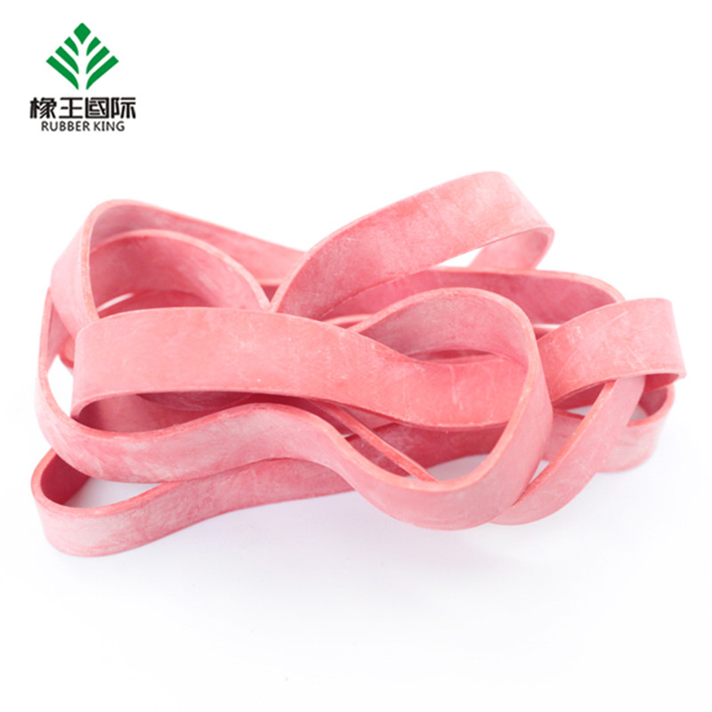Rubber band manufacturer customized color high elasticity anti-aging widened rubber band