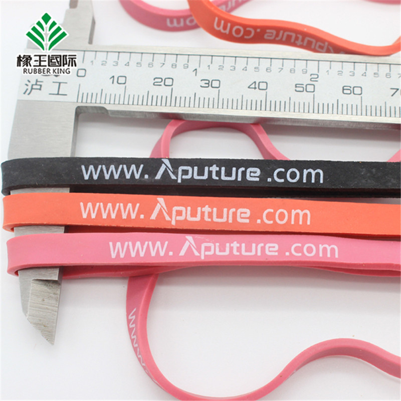 Manufacturers custom color, high elasticity, waterproof and durable printing advertising rubber bands