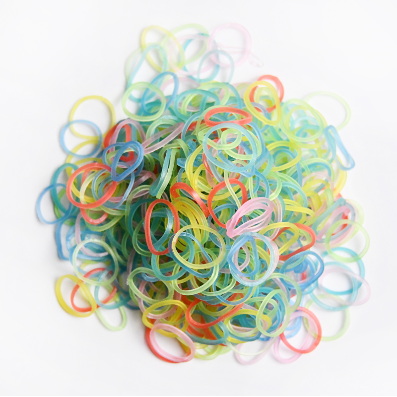 Spot wholesale color transparent mini high elasticity one-time hair tie rubber band